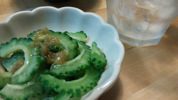 ゴーヤ ごま油 柚子胡椒