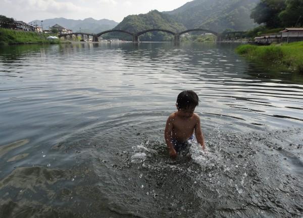 錦川 川遊び