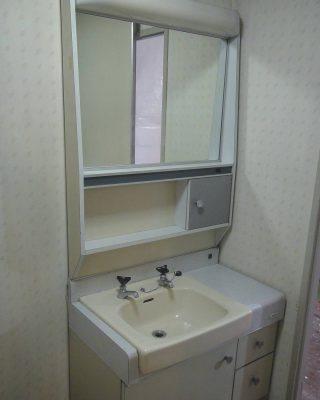 昭和な洗面台