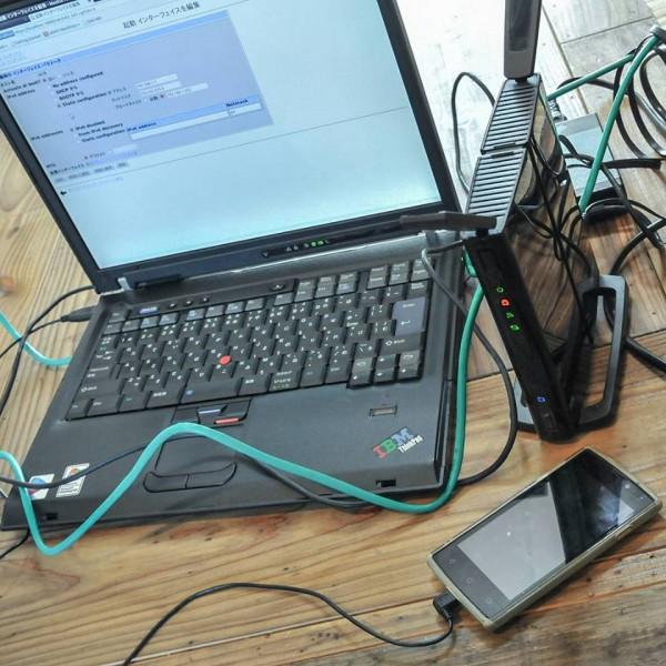 有線LANからスマホでネット接続