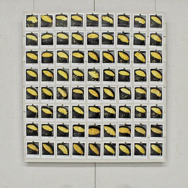 ムササ美2018へ出品した作品「オムレツの乱れは心の乱れ」#作品 #作品展 #山脇ギャラリー #ポラロイド風 #オムレツ