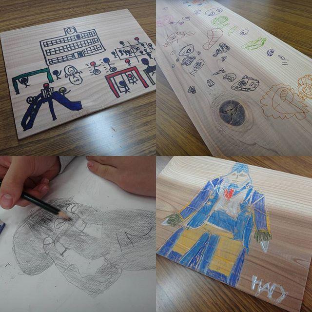 2月18日の教室。鉛筆デッサンは難しかったかな?#絵画教室 #子供絵画教室 #鉛筆デッサン #板絵
