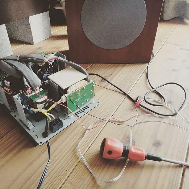 無い物は作るのだ!DSW-3.1から摘出したパワーアンプでDSW-70を鳴らす。#サブウーファー改造 #dsw-70 #dsw-3.1 #denon #サブウーファー