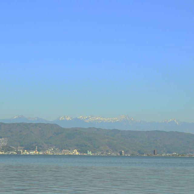 訳あって長野県へ#諏訪湖 #岡谷湖畔公園 #長野県 #長野ドライブ