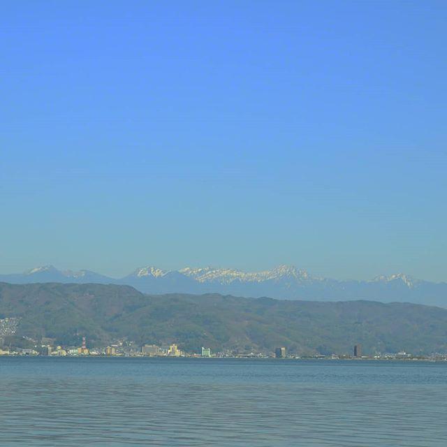 訳あって長野県へ#諏訪湖 #八ヶ岳 #岡谷湖畔公園 #長野県 #長野ドライブ