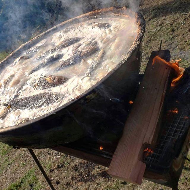 ギャラリー政吉名物「筍地獄祭」2日目#筍地獄祭 #たけのこあく抜き #ギャラリー政吉 #因島産 #因島