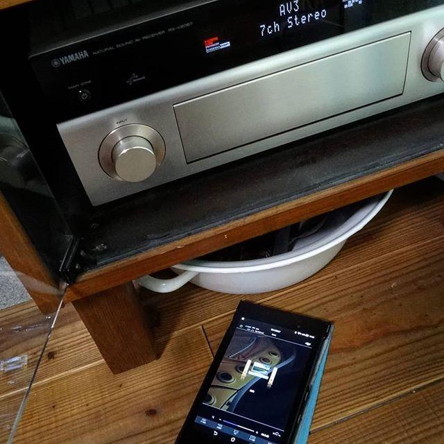 リモコンよりアプリの方が便利。古いアンプですがYAMAHA AV Controllerに対応しています。#rxv2067 #yamaha #avアンプ #2067 #avcontroller #オーディオ #audio #avreceiver #ヤマハ #ヤマハavアンプ