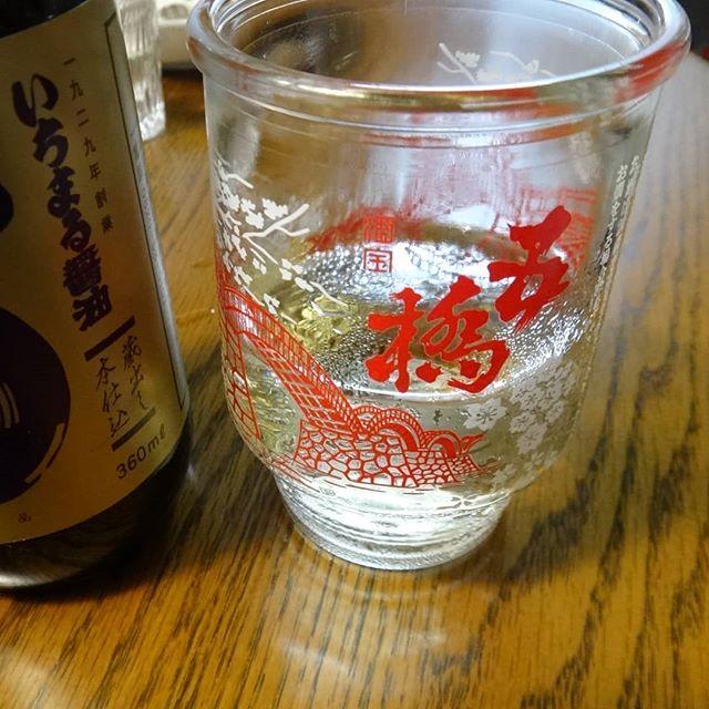 昨日の晩酌は五橋左側は山口県平生町の醤油#五橋ワンカップ #五橋 #山口の酒 #いちまる醤油 #醤油