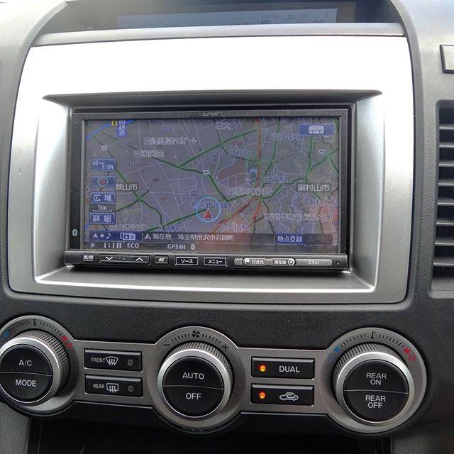 ナビ自力交換中。なんとかナビとテレビラジオは使えるようになりましたが、付属コネクターが特殊でオーディオの配線困難、、、#ナビ交換 #ly3p #mazdampv #mpv #mpv23t #viex08
