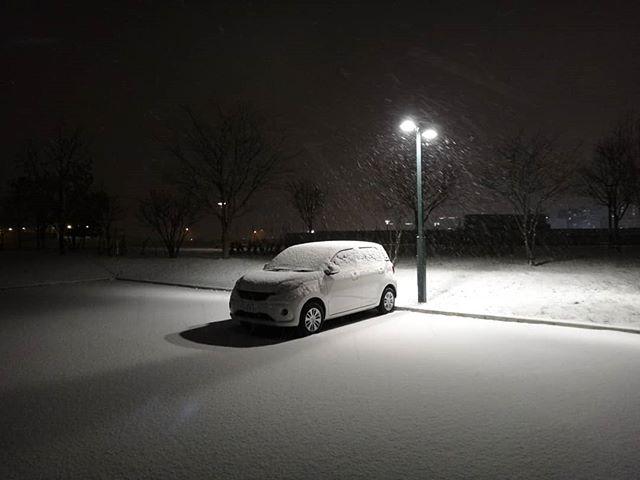 あっという間に雪化粧。__#旭川出張 #旭川 #雪景色__