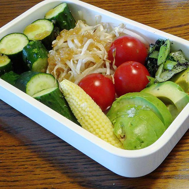 コンビニでおにぎりでも買っとくか#野菜だけ弁当 #弁当 #野菜たっぷりお弁当 #野菜たっぷり #野菜弁当
