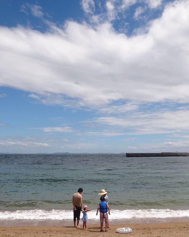 昨日は弓削島へ台風接近で海水浴場は閉鎖、、、#弓削島 #松原海水浴場 #海水浴 #瀬戸内海の島 #瀬戸内海