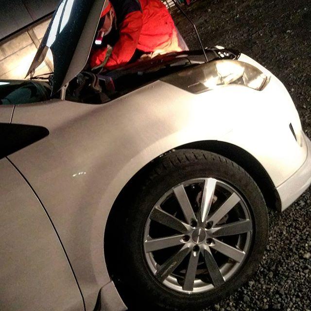 さすがJAF、エンジンかからない車が5分で直った!__#さすがjaf #jaf #mpv #mazdampv #ly3p