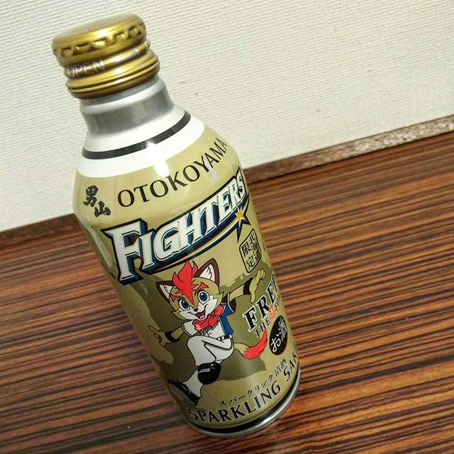 アルミボトル入りの日本酒!スパークリング度数低めなのでゴクゴク飲めちゃう。__#男山ファイターズボトル #男山 #旭川の酒 #スパークリング日本酒 #日本酒__