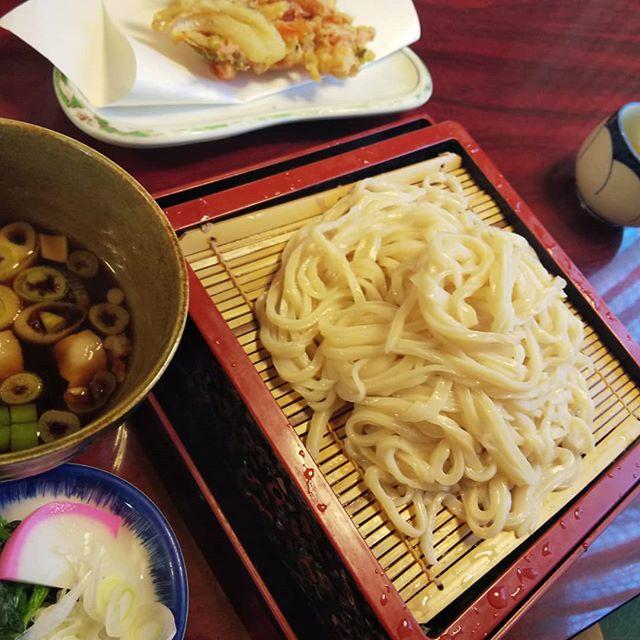 久びさのあまのや。どじょうの天ぷらも食べればよかった~__#あまのや #肉汁うどん #所沢うどん #武蔵野うどん #うどん
