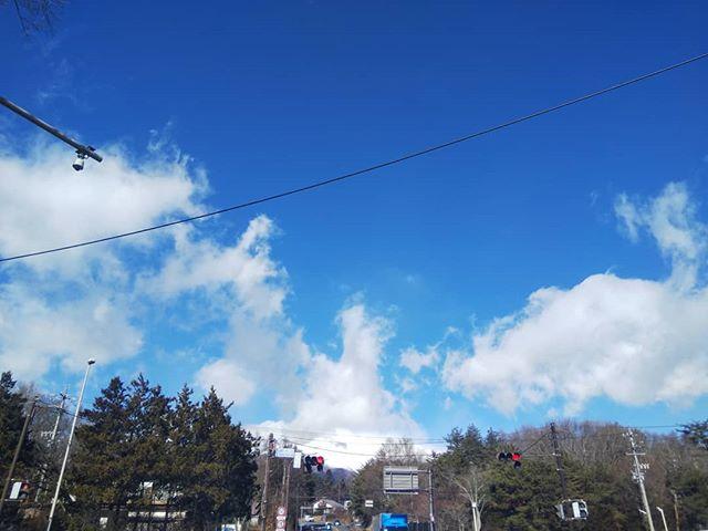 浅間山雪景色#浅間山 #浅間サンライン #雪景色