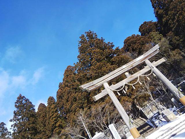 初詣#戸隠神社 #初詣 #正月 #雪景色