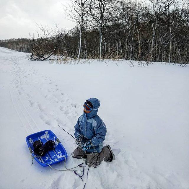 たんばらは猛吹雪昼前に撤退#たんばらスキーパーク #たんばらスキー場 #吹雪 #雪遊び