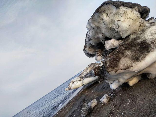流氷のかけら#オホーツク海 #流氷 #網走 #濤沸湖