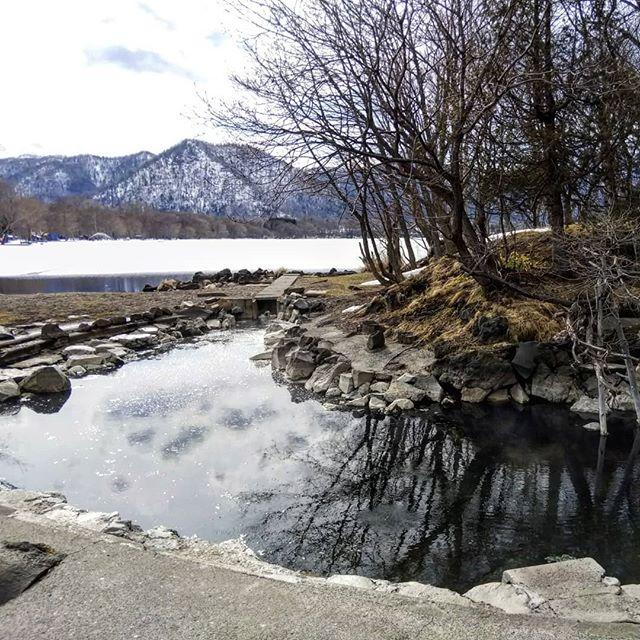 今日は見るだけ#和琴温泉 #和琴半島 #屈斜路湖 #露天風呂